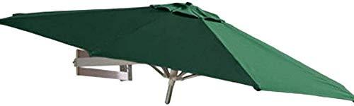 ZEH Ronda Aire Libre montado en la Pared Parasol, Patio Jardín Balcón Patio Paraguas, inclinando la sombrilla Paraguas Pared con Marco de Aluminio (Color: Verde, Tamaño: 7.2ft / 2,2 m) FACAI