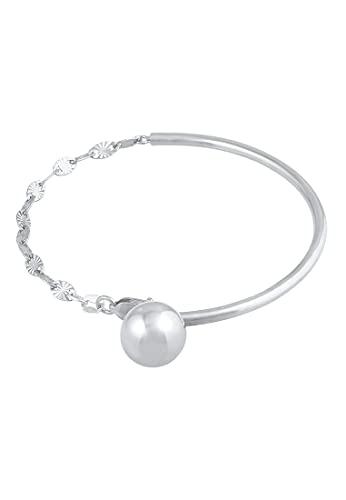 Elli PREMIUM Armband Damen Armreif Plättchen Kugel Trend Blogger in 925 Sterling Silber