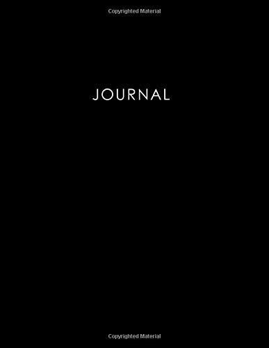 Journal: 400 Page Journal, 8.5x11 inch, Black Notebook, 200 sheets / 400 pages, Classic 400 Lined pages, College Ruled paper, perfect bound, Soft Cover