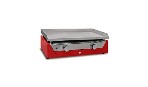 Fabricante Plancha Simogas – Plancha gas acero rectificado 12 mm – 2 quemadores en H – Simogas Rainbow