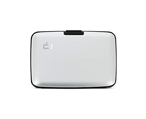 Ögon Smart Wallets - Stockholm Aluminium Geldbörse, RFID-Blockierung, 10 Karten und Banknoten (Silber)