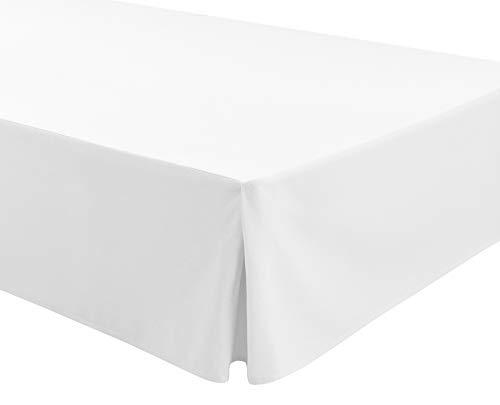 Easycosy - Spannleintuch für Tiefe Matratzen (32 cm) ATENEA, mit Volant-Rüschen Bettvolants - Bett 180cm - Farbe Weibe (180x190/200cm)