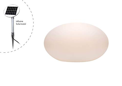 8Seasons 32420s Lampe d'extérieur, intégré, blanc, H 24 cm