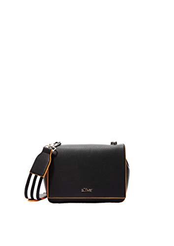 s.Oliver Damen City Bag mit Textil-Detail black 1