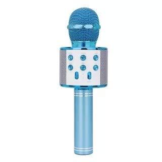 EEM Micrfono inalmbrico Karaok, 4 en 1 mquina porttil de Karaoke con Altavoz porttil Bluetooth, Reproductor KTV domstico con funcin de grabacin(Blue)