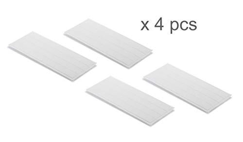 Supremery 4x Wischtuch für Kärcher Vibrierender Akku Wischer KV 4 Mikrofaserbezug Cleaning Pads - Klettbefestigung, waschbar