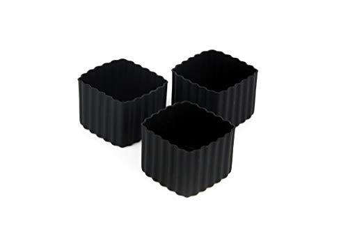Little Lunch Box Co., Bento Cups, Silikonformen für Bento Box (Schwarz, Square)