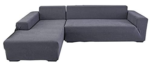 BEYRFCTA Funda para sofá con chaise longue de una pieza, funda elástica para sofá, funda de sofá de 190 x 230 cm