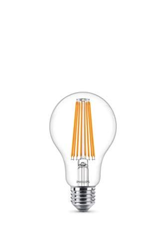 Philips bombilla LED estándar de filamento, efecto vintage, casquillo gordo E27, 11 W equivalentes a 100 W en incandescencia, 1521 lúmenes