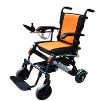 YIONGA CAIJINJIN Electric Rollstuhl Besten billigste Radstuhl Power Active Folding Behinderter Elektrischer Rollstuhl mit Motor (Color : Orange)