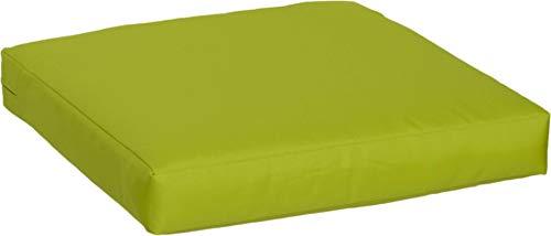 Beo Beo LKP 50x50PY203 Loungekissen Sofakissen Palettenkissen mit Reissverschluss und wasserabweisendem Stoff, hellgrün, 50 x 50 cm