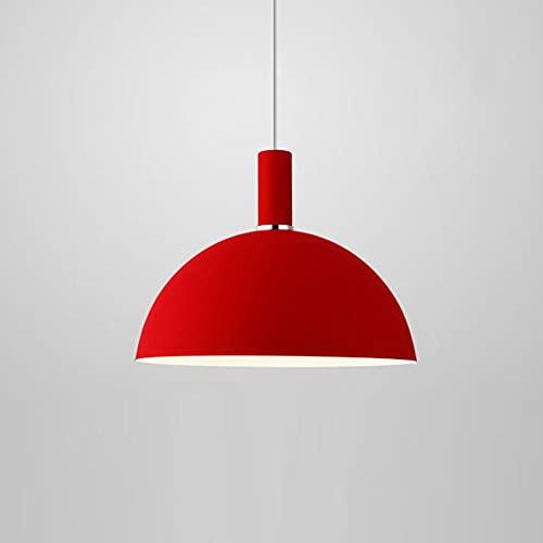 CSSYKV Araña Industrial Nórdica Color Macaron E27 Luz Colgante De Metal Moderna Creativa Pantalla De Cúpula Semicircular De Color Simplicidad Restaurante Decoración Techo Accesorio De Iluminación