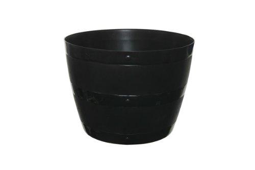 Whitefurze G0834BL 34cm Barrel Planter - Black