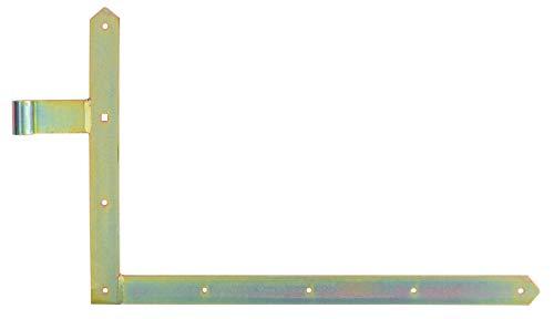GAH-Alberts 313111 Tor-Winkelband, gerade, Abschluss spitz, unten, galvanisch gelb verzinkt, Rolle: Ø16 mm / 400 x 600 mm