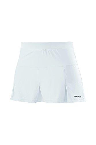 HEAD Club Skort Damenrock mit eingenähten Shorts L Weiß (WH)