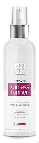 My Skin's Friend - Self Tanner, Sunless Organic Spray Tanning Lotion For Face & Body, Sunless Tanning Moisturizer for Natural Sunkissed Glow, Free Vegan formula, Organic Tanning Spray