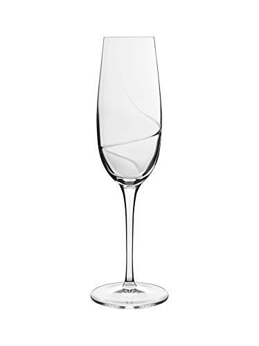 Luigi Bormioli 7540453 Aero-Confezione da 6 Flutes in Cristallo Trasparente, 5,8 x 5,8 x 23,8 cm