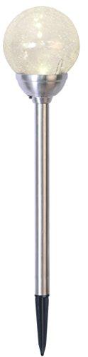 Tecstar Star Décoration de Jardin, LED Lampe Solaire Chemin avec Boule, Acier Inoxydable, cuivre, 12 x 12 x 45 cm, 479–27