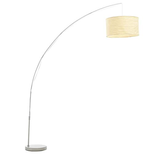 vidaXL Lámpara de Arco Ajustable 192 cm Color Crema