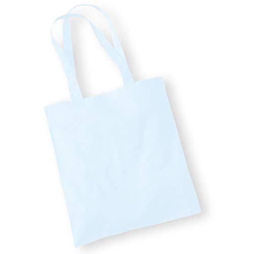 Westford Mill - Baumwoll-Tragetasche mit langen Henkeln / Pastel Blue, One