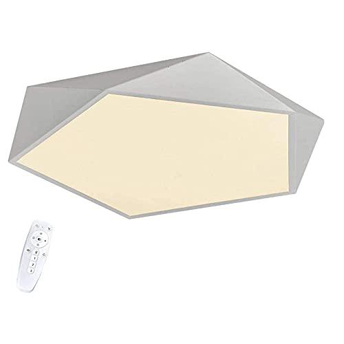 Lámpara de techo de 48 W, moderna, cálida, creativa, geométrica, moderna, para habitación de los niños, dormitorio, estudio, pasillo, lámpara de salón, luz blanca