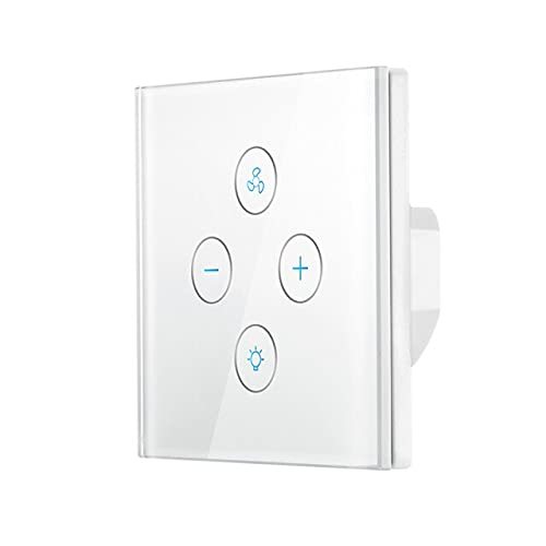 WSFS WiFi Smart Ceiling Fan Light Wall Switch,Smart Life/Tuya App Remote for Fan Light Compatible with Alexa - (Color: White, Standard: US Standard)