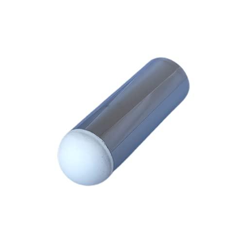 Tope latón cromado con rosca de 25 mm de diámetro.