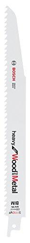 Bosch Professional 5 unidades Hoja de sierra sable S 1110 VF Heavy for Wood and Metal (Longitud 225 mm, accesorio de sierra sable)