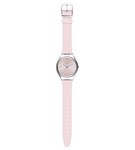 Swatch Damen Analog Quarz Uhr mit Silicone Armband SYXS124