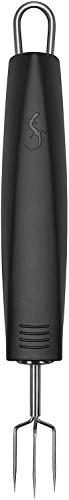 Lurch 230170 Kartoffelgabel aus Edelstahl und Kunststoff, schwarz, 18,5 cm x 2,5 cm