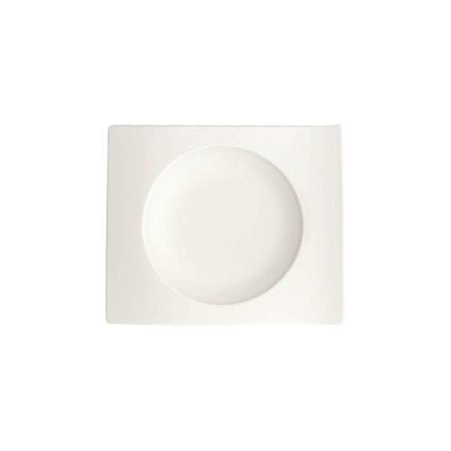 Villeroy & Boch NewWave Brotteller, 15 x 13 cm, Premium Porzellan, Weiß