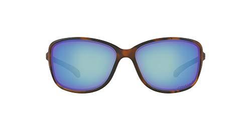 Oakley Women's OO9301 Cohort Rectangular Sunglasses, Matte Brown Tortoise/Prizm Deep H2O Polarized, 62 mm