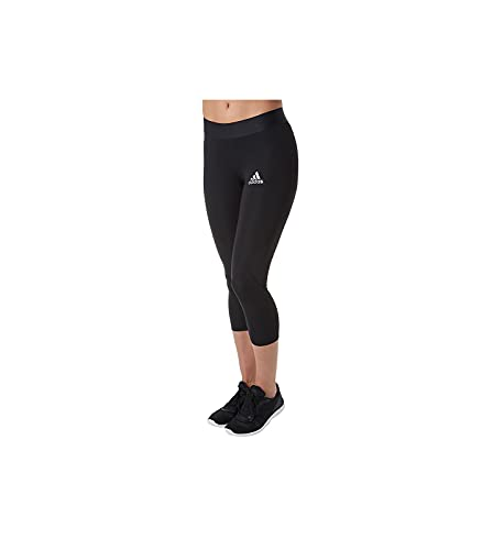 adidas Entrenamiento Alphaskin Sport 3/4 Ajustado para Mujer, Mujer, Ajustado, SMSUS18USASQTW, Negro, XXS