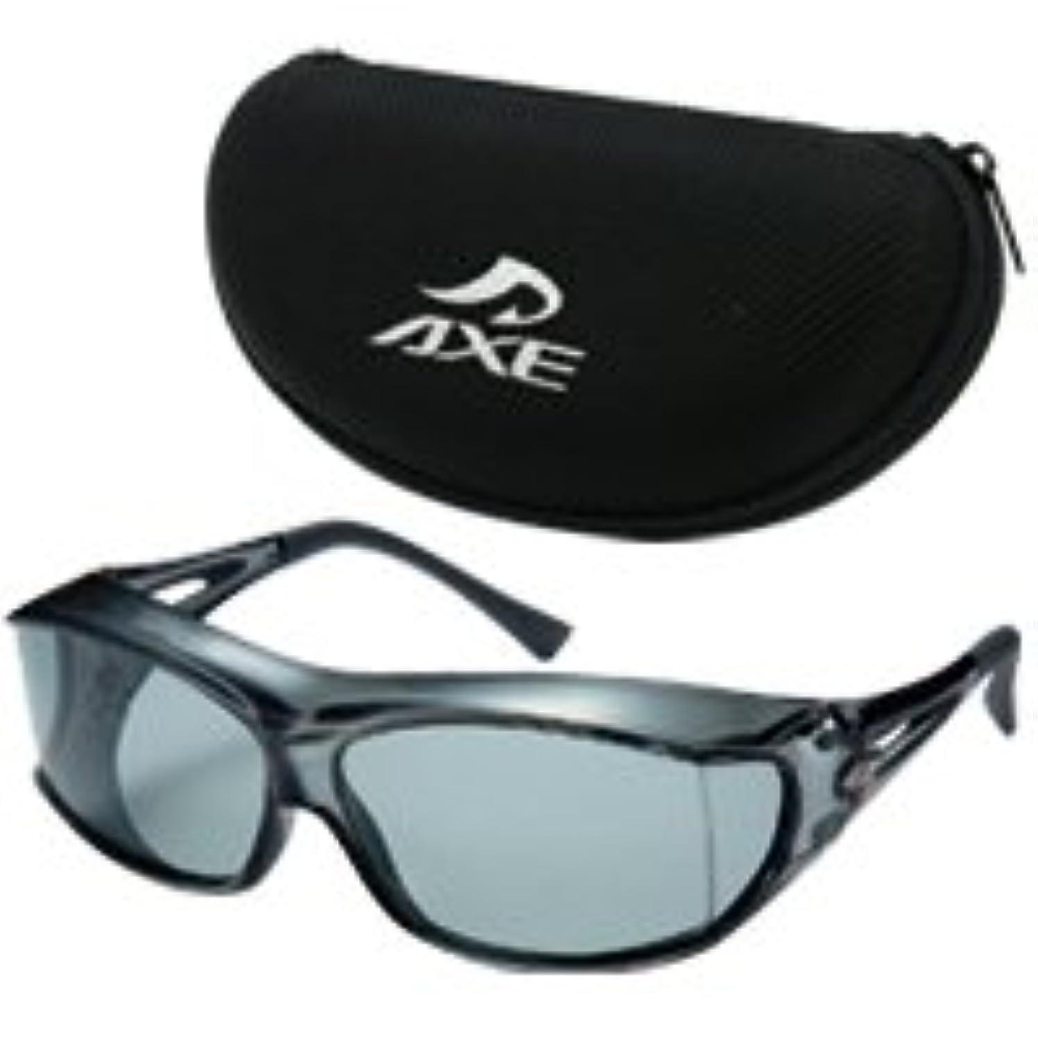 不毛のわがまま光景AXE アックス 偏光 オーバーグラス オーバーサングラス 眼鏡の上から SG-605P/SM(AX-26)ケースセット