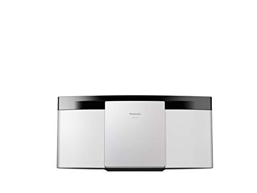 Panasonic SC-HC212EG-W Sistema Micro Hi-Fi a 2 Canali, 20W, Radio Digitale DAB+, Lettore CD, Bluetooth, USB, Suoni Puri e Minima Distorsione, Design Sottile Contemporaneo, Montabile a Parete, Bianco
