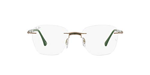 Ray-Ban 0RX8769 Gafas, MILITARY GREEN ON LIGHT BROWN, 51 Unisex Adulto