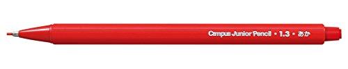 『コクヨ キャンパス ジュニアペンシル 1.3mm 赤 PS-CR101-1P』の1枚目の画像