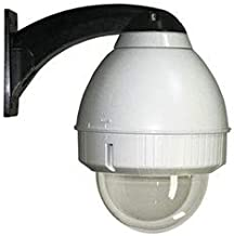 Videolarm FDW75C2N, Vandal-Resistant Outdoor Dome Housing with Wall Mount, Rugged cast Aluminum top and Polycarbonate Clear Dome