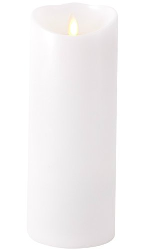 Liown Flameless Candle: Unscented, Moving Flame Candle with Timer (9' White)