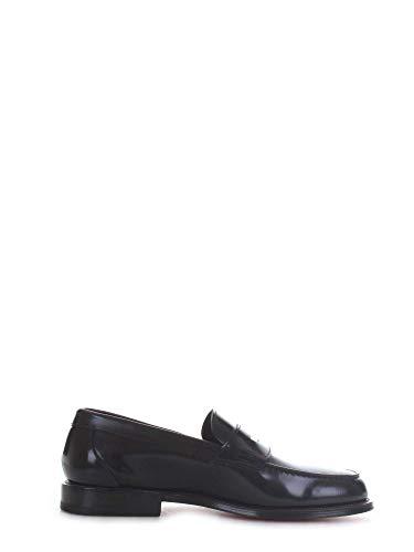 Santoni Luxury Fashion Homme MCQU13207LC5SNOVU50 Bleu Cuir Mocassins | Saison Outlet