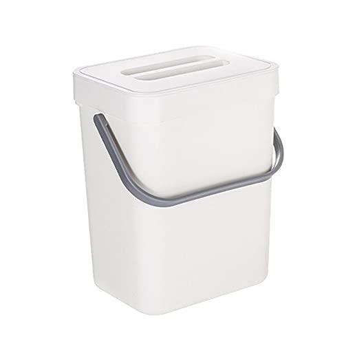 Colgando la basura de la tapa de la cocina portátil no puede rastrear la pared de basura ajustable de la pared pequeña de plástico en la canasta de los residuos del lavamanos 5l para el armario de bañ