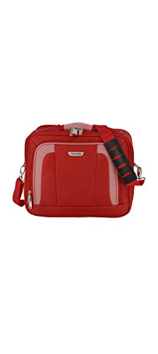 Travelite Handgepäck Tasche mit Aufsteckfunktion, Gepäck Serie ORLANDO: Klassische Weichgepäck Bordtasche im zeitlosen Design, 098484-10, 18 Liter, 1,0 kg, rot