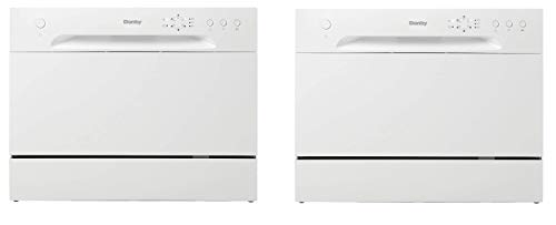 (New Model) Danby DDW621WDB Countertop Dishwasher, White (Twо Расk)