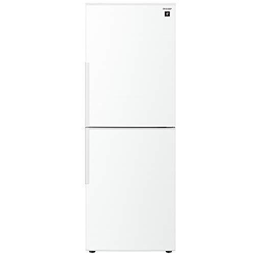 シャープ 冷蔵庫 280L(幅56cm) プラズマクラスター搭載  2ドア メガフリーザー ホワイト系 SJ-PD28E-W