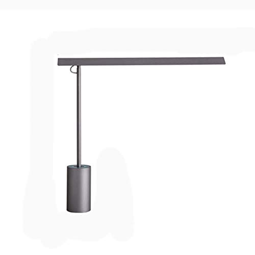 MQJ Lámpara de Mesa 12W Lámpara de Escritorio 360 ° Stepless Dimmable Led Lámpara de Escritorio Lámpara de Aprendizaje de Control Táctil para Oficina en Casa, 4000K Luz Blanca Cálida,Gris