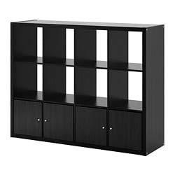 IKEA kallax librería estantería con 4Accesorios, diseño circulos Movimiento Cuarzo Reloj Pared 147x 112cm