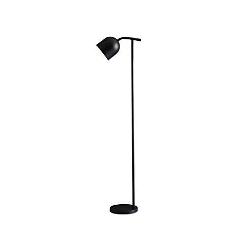 Lámpara de pie creativa Lámpara de simplicidad, luz del piso con engrosamiento de la base de hierro forjado, moderna lámpara de pie for espacios de oficina Sala Dormitorio Luz de piso