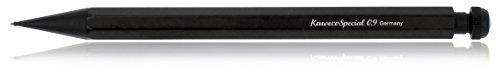 Kaweco SPECIAL Druckbleistift 0.9 I Minenbleistift aus hochwertigem Aluminium in oktogonalem Acht Kant Format I Druckminenbleistift 14 cm I Druck-Bleistift nachfüllbar Schwarz mit Radiergummi