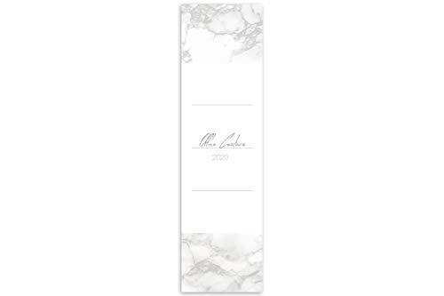 Elegante Ordnerrücken Etiketten zum einschieben, Design in Marmor Optik, für breite Ordner, 10 Stück