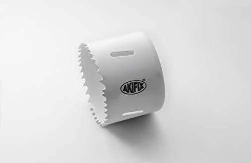 Akifix NAUE03044 Lochsäge, zweimetallisch, 140 mm Durchmesser